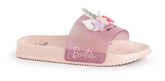 Chinelo Slide Barbie Glam Unicórnio 21689 Grendene Envio24h