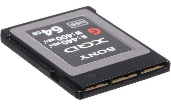 Cartão De Memória Sony Xqd 64gb G Series 440-400mb/s