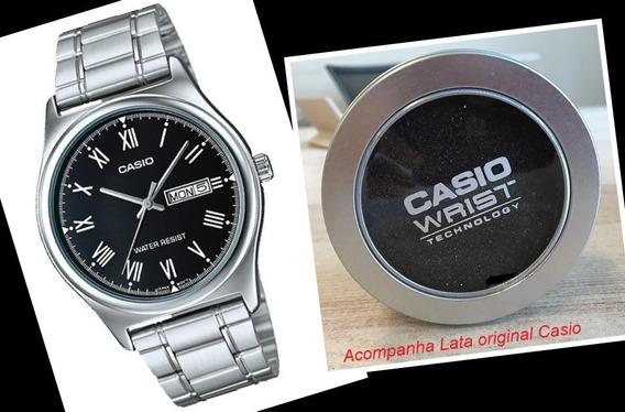 Relógio Pulseira Aço Casio Analógico Mtpv006 Made In Japan