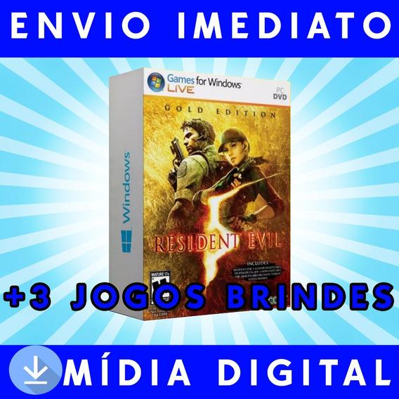 Resident Evil 5 Pc Digital +3 Jogos Brindes A Sua Escolha