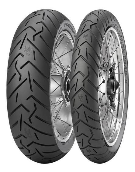 2 Pneu Moto Pirelli 150/70r17 69v E 90/90r21 54v Scorpion