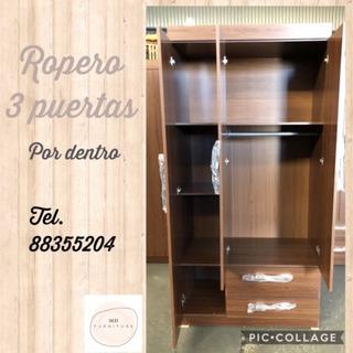 Ropero 3 Puertas De Melamina Nuevo