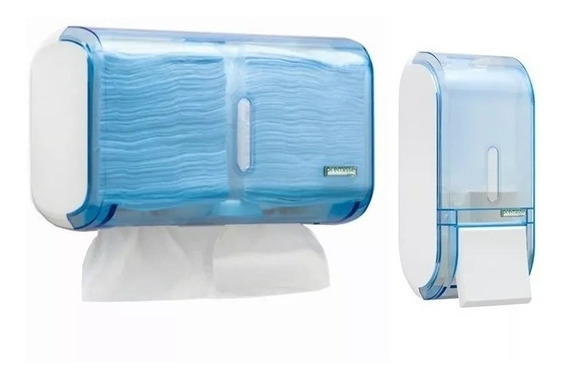Conjunto Dispenser Papel Interfolha + Saboneteira Liquido