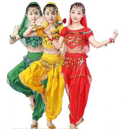 Conjunto Danza Árabe Baile Para Niña Con Bolso Mvd Sport