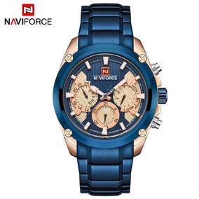 Relogio Azul Naviforce Original 9113 Analógico Frete Grátis