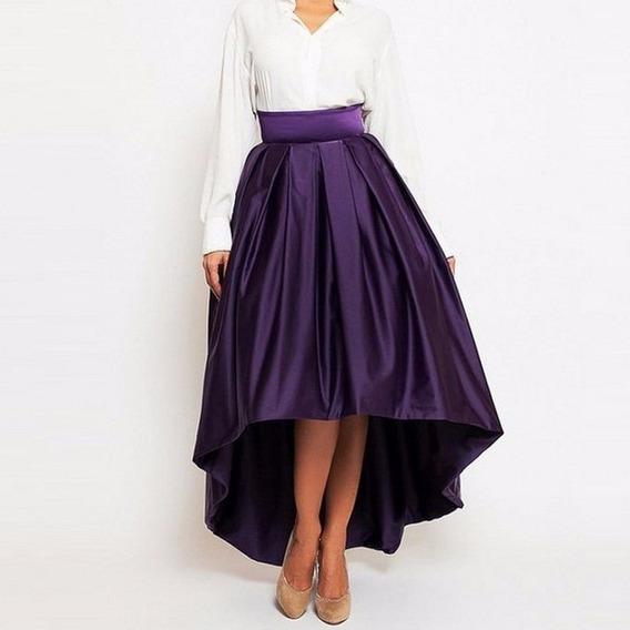 Linda Saia Longa Mullet Moda Evangelica Elegante Cod#1005