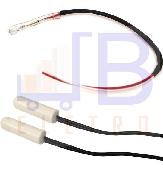 Kit Sensor Fusível Térmico Geladeira Electrolux Rfe38 Rfe39