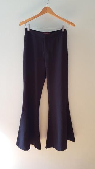 Pantalón Negro De Vestir Mujer Tiro Alto