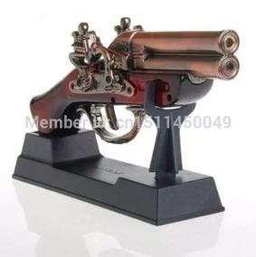 Isqueiro Maçarico Formato Arma Garrucha Pistola Recarregavel