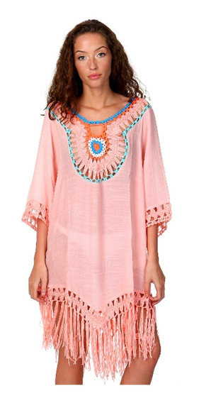 Vestido - Salida De Playa - Cover Up Bordado