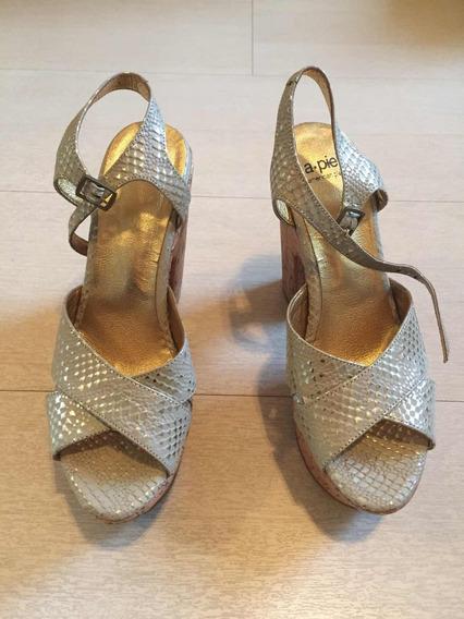 Zapato De Fiesta De Mujer Talle 36 A. Pie
