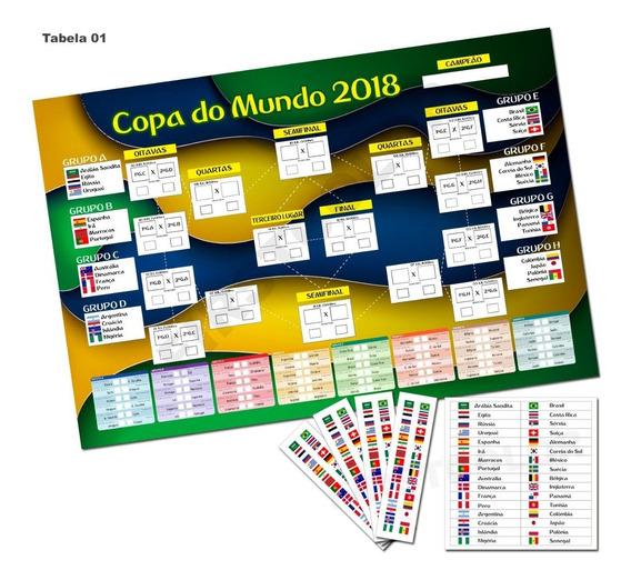 Placa Em Mdf Decorativa Editável Tabela Copa Do Mundo 2018