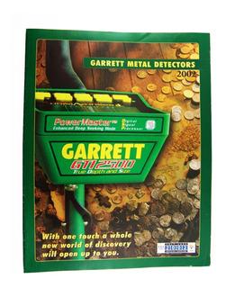 Garrett Detector De Metales Tesoros Catálogo 2002 Salt Lake
