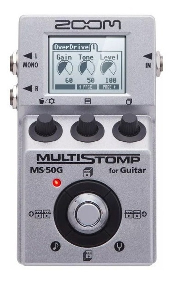 Pedal P/ Guitarra Multi-efeitos Stompbox Ms-50g Reverb Zoom