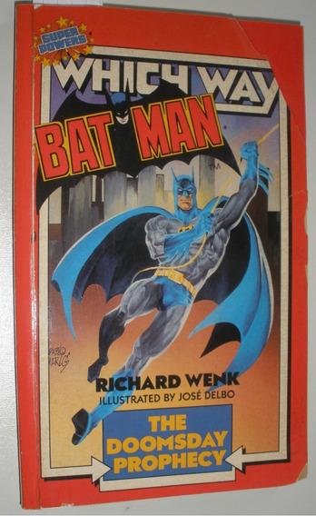 Livro Batman Antigo Anos 80 Americano Super Heróis Raro