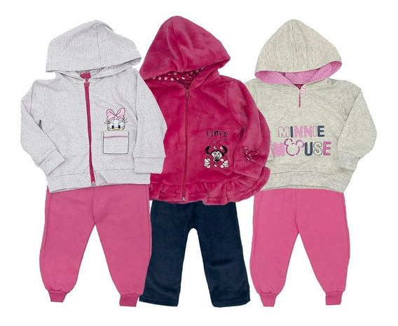 Kit Disney Minnie 3 Conjuntos Con Bordado