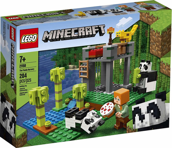 Lego Minecraft - Creche Dos Pandas - Lego 21158 Lego