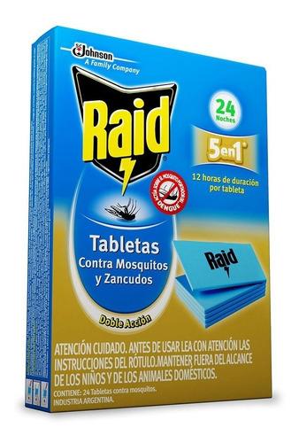 Imagen 1 de 2 de Raid Tabletas Larga Duracion X 24 X 6 Cajas - Repuestos