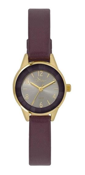 Relógio Condor Feminino Couro Vinho Co2035kwk/2c