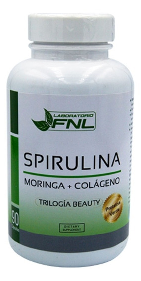 Spirulina + Moringa + Colageno 90 Caps 550 MgOriginal Cert