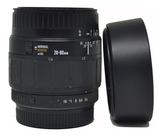 Kit Lente Sigma Macro 28-80mm E 70-300mm + Protetor De Sol
