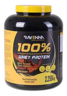 Whey Protein 100% Isolado Pote 2,250g Ravenna Chocolate