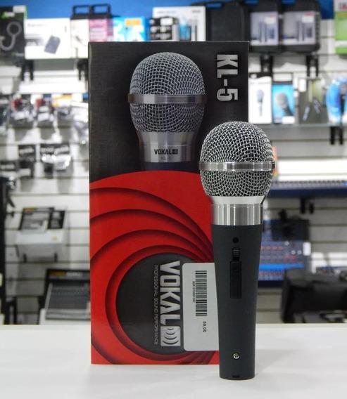 Microfone Profissional Dinâmico Com Fio Vokal Kl5 Promoção