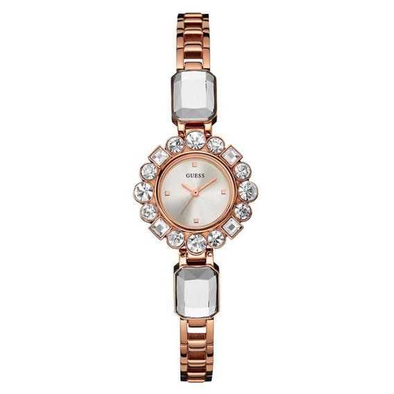 Reloj Análogo Marca Guess Modelo: U0701l3 Color Rosa Para Da