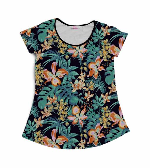 Camiseta Babylook Estampada Florida Vintage Cool Tumblr