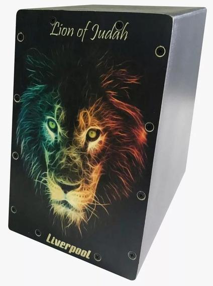 Mini Cajon Estampa Lion Of Judah Liverpool Caj Lea