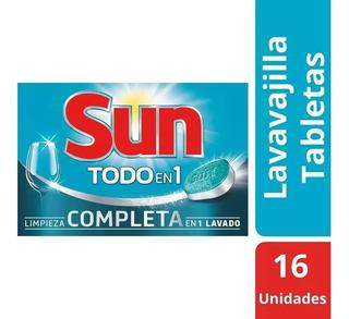 Tabletas P/ Maquina Lavavajilla Sun 16 U.