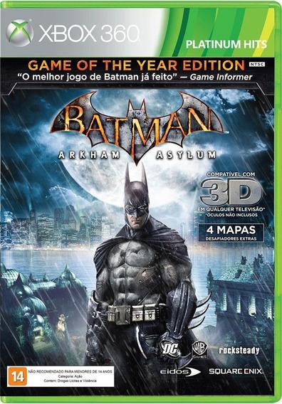 Jogo Batman Arkham Asylum 3d Game Of The Year Editionxbox360