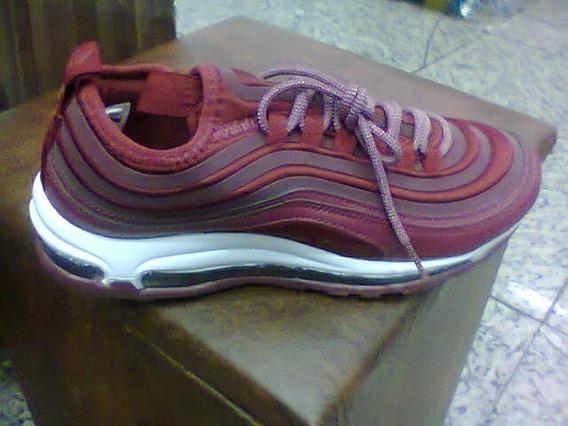Tenis Nike Air Max 97 Vinho E Branco Nº42 Original!!!