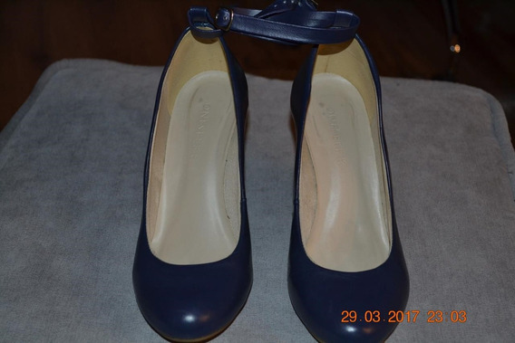 Sapato Tipo Anabela, Cor Azul Petróleo, Marca Onesele