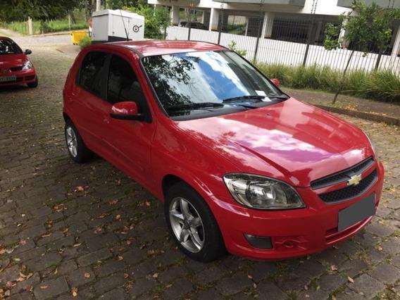 Chevrolet Celta 1.0 Mpfi Lt 2012 Flex Vermelho.