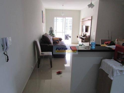 Apartamento Com 3 Dormitórios À Venda, 86 M² Por R$ 430.000,00 - Gonzaguinha - São Vicente/sp - Ap2380