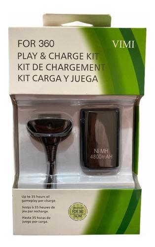 Imagen 1 de 4 de Cable Cargador Y Bateria Recargable Para Control Xbox 360