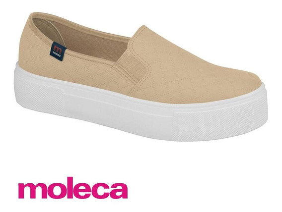 Tênis Feminino Slip On Flatform Moleca -5658.100