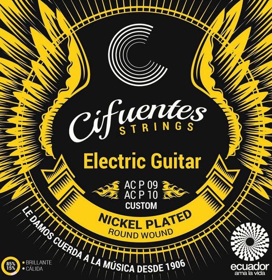 Cuerdas Guitarra Eléctrica Nickel Plated Cifuentes Strings