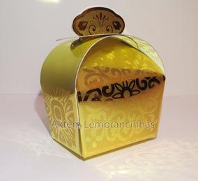 30 Caixinha Dourada Lembrancinha Realeza Princesa Ostentação