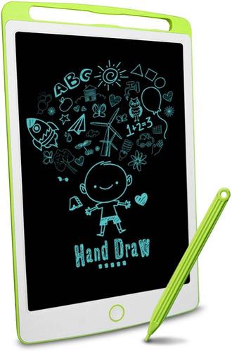 Imagen 1 de 6 de Pizarra Magica De Dibujo Para Niños Lcd Richg 10  Verde