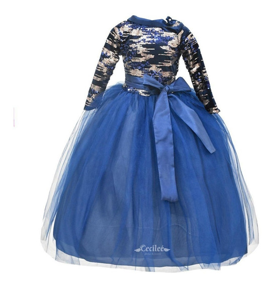 Vestido Hermoso De Fiestas Niña Exclusivo Adhara