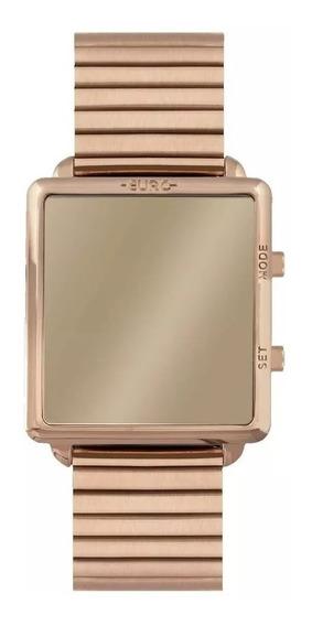 Relógio Feminino Espelhado Digital Rosê Euro Eujhs31baj/4d