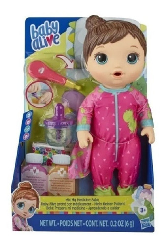 Baby Alive Prepara Mi Medicina Muñeca Hasbro E6927 Edu Full