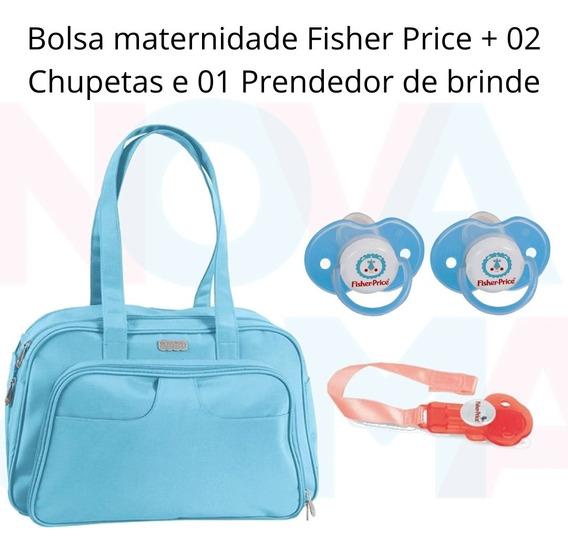 Bolsa Maternidade Fisher P. Luxo C/trocador +case E Brindes