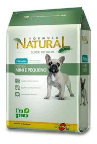 Ração Formula Natural Cães Filhotes Mini E Pequenos 7 Kg