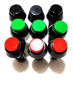 Chave Push Button Na Vermelha, Verde E Preta C\ 10 Unidades