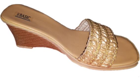 Sandalias Zuecos De Mujer Doradas Outlet