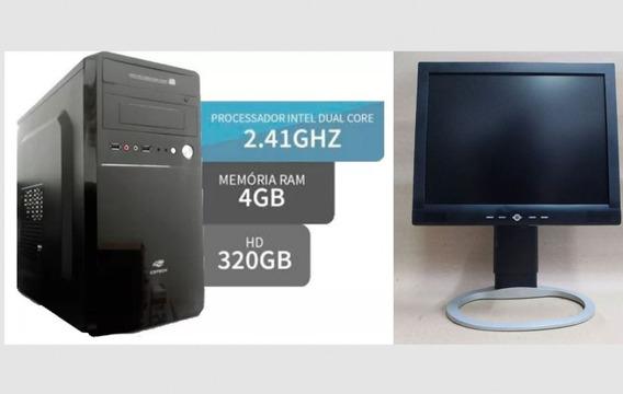 Computador Completo Dual Core D525 4gb Ddr3 || Hd320