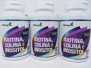 Biotina Colina E Inositol 3potes 250mg Suplemento